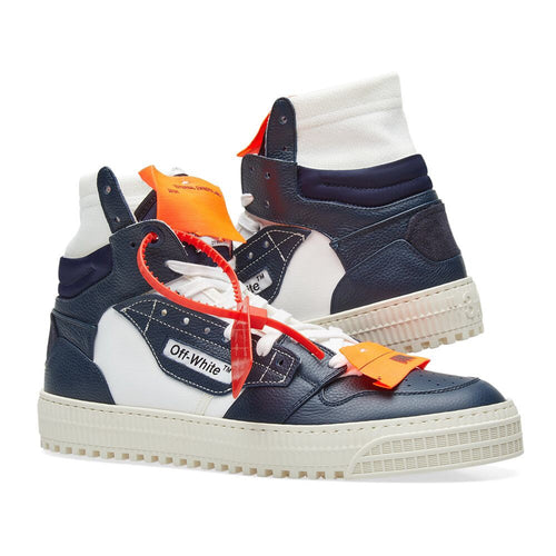 Off White Navy Court High Sneakers