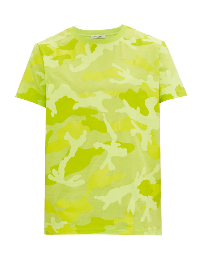Valentino Lime Green Camo T-shirt