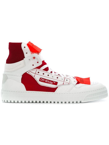 Off White Red White Court Hi Sneakers
