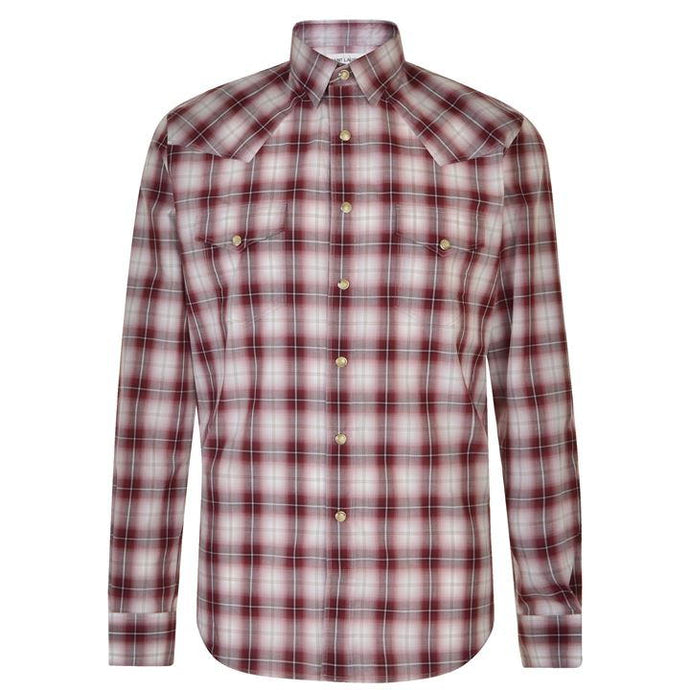 Saint Laurent Red Check Western Shirt