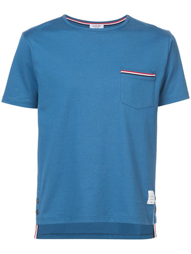 Thom Browne Blue Pocket T-shirt