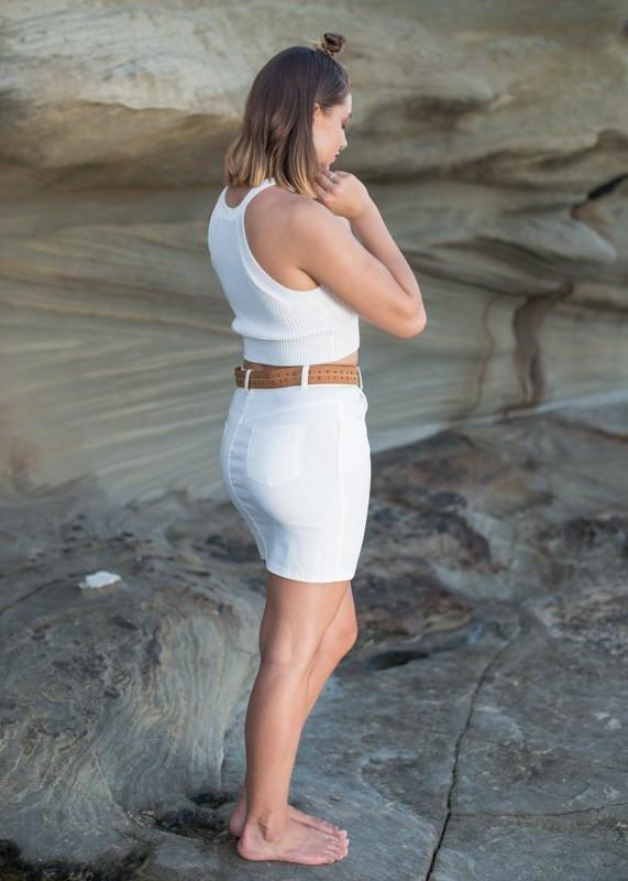 Soleil Skirt - White - - Clothing