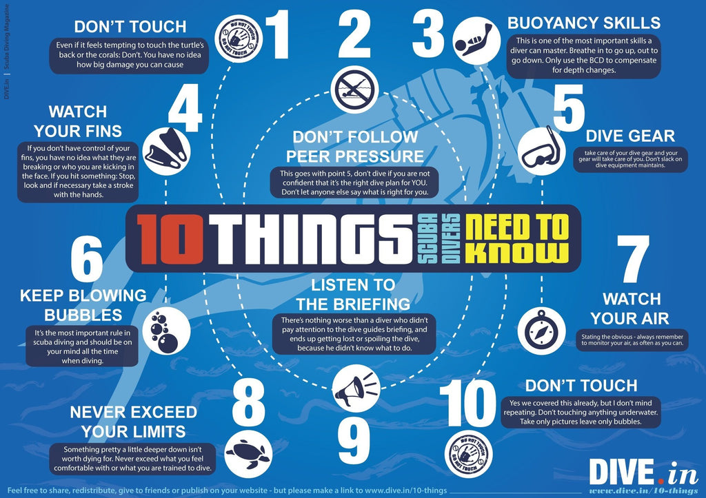 10 THINGS SCUBA DIVER NEED TO KNOW