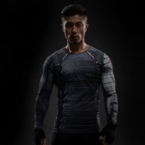 Winter Soldier Compression T-Shirt L/S - GeekGroks