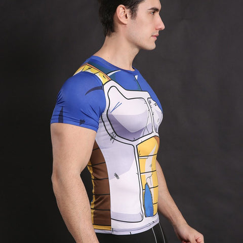 Vegeta Compression T-Shirt S/S - GeekGroks