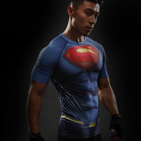 Superman Compression T-Shirt S/S - GeekGroks