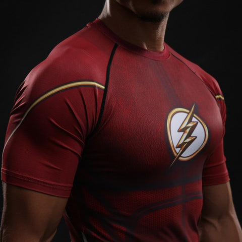 The Flash Red Compression T-Shirt S/S - GeekGroks