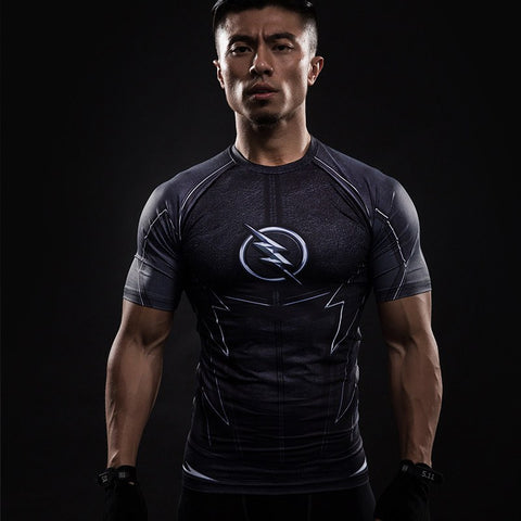 The Flash Black Compression T-Shirt S/S - GeekGroks