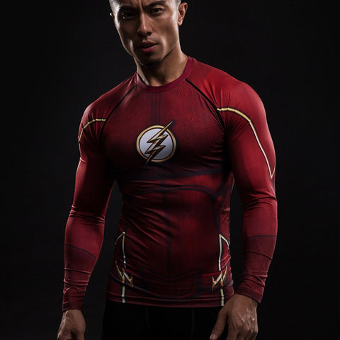 The Flash Red Compression T-Shirt L/S - GeekGroks