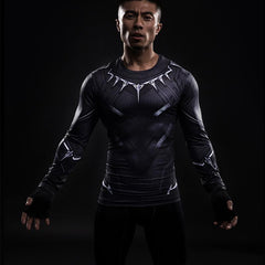 Black Panther Compression T-Shirts L/S