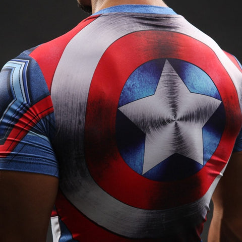 Captain America's Shield Compression T-Shirt S/S - GeekGroks