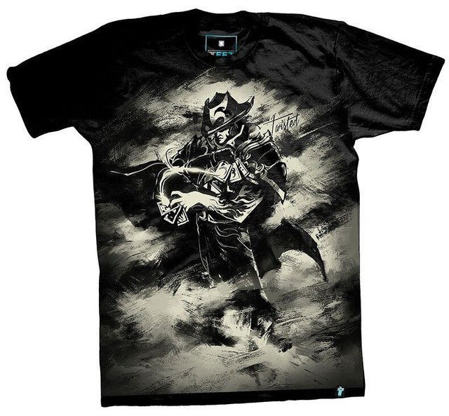 Twisted Fate Monochrome T-Shirt - GeekGroks