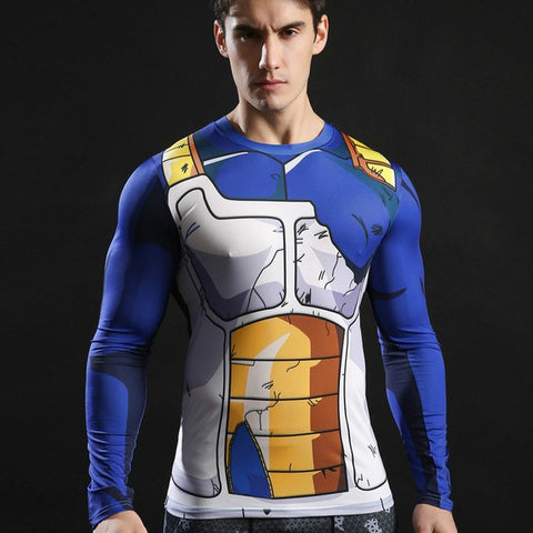 Vegeta Compression T-Shirt L/S - GeekGroks