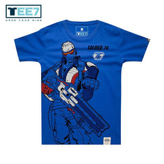 Soldier 76 Blue T-Shirt S/S