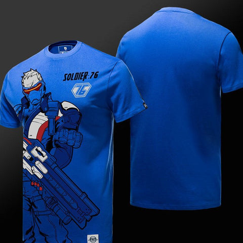 Soldier 76 Blue T-Shirt S/S - GeekGroks