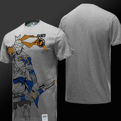 Hanzo Light Gray T-Shirt S/S - GeekGroks