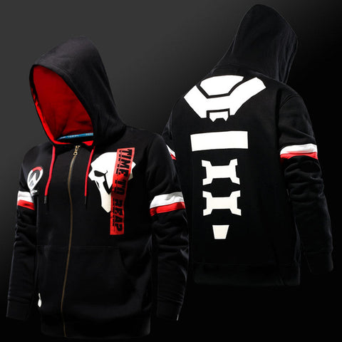 Time to Reap - Reaper Zipper Hoodie - GeekGroks