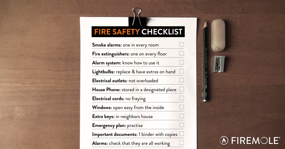 Free Download: Your Fire Safety Checklist for Your Home ... on nursing home checklist, medical home checklist, home maintenance checklist, winter safety checklist, travel home checklist, cleaning home checklist,