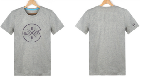 T-Shirt - 'Camp Bundle Beds' - Grey or Navy