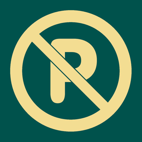 'No parking' symbol sign