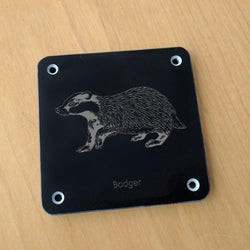 'Badger' rubbing plaque