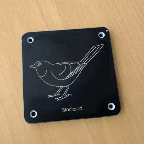 'Blackbird' rubbing plaque