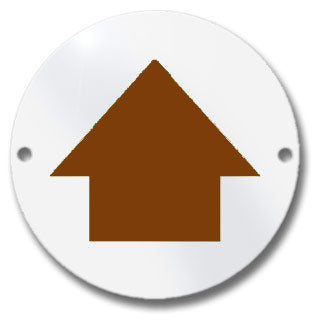 Waymarker Disc - Brown Arrow - Pack of 20