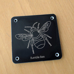 'Bumble bee' rubbing plaque