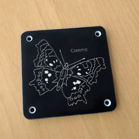 'Comma' rubbing plaque