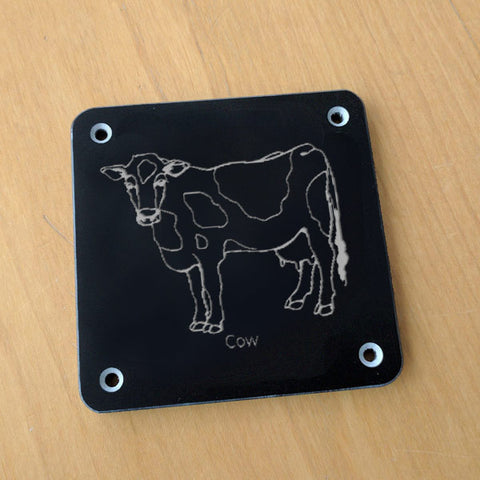 'Cow' rubbing plaque