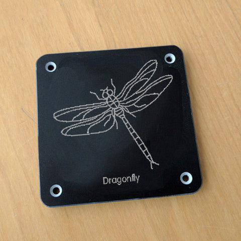 'Dragonfly' rubbing plaque