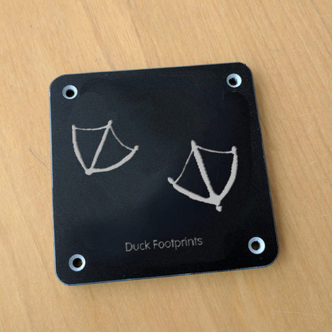 'Duck footprint' rubbing plaque