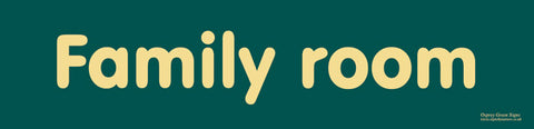'Family room' sign