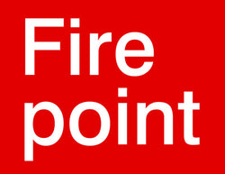 'Fire point' sign