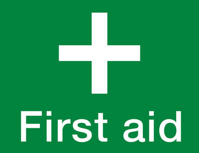 'First Aid' sign