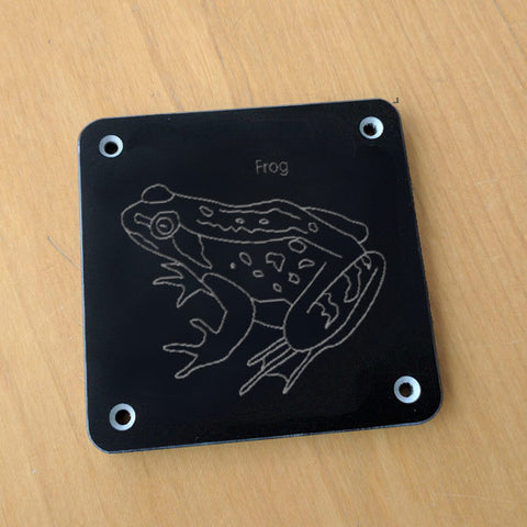 'Frog' rubbing plaque