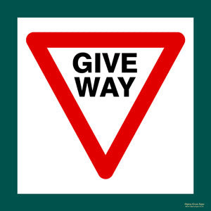 'Give way' symbol sign