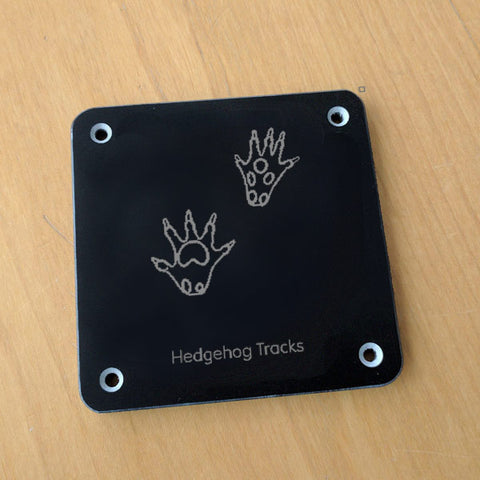 'Hedgehog tracks' rubbing plaque