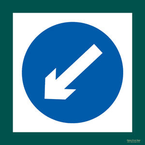 'Keep left' symbol sign