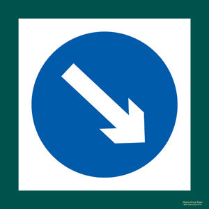 'Keep right' symbol sign