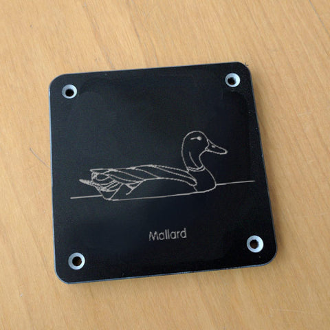 'Mallard' rubbing plaque
