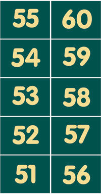 Pitch numbers 51 - 60