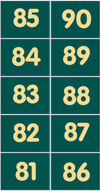 Pitch numbers 81 - 90