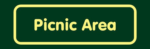 'Picnic area' Nature Watch Visitor Management Sign