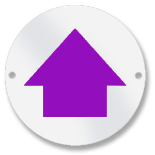 Waymarker Disc - Purple Arrow - Pack of 50