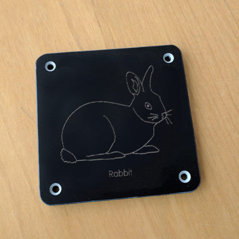 'Rabbit' rubbing plaque