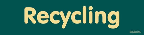 'Recycling' sign