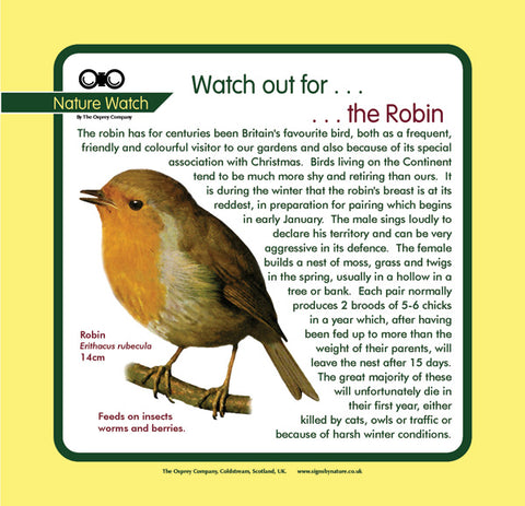 'Robin' Nature Watch Panel