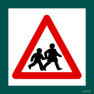 'Slow children' symbol sign