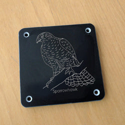 'Sparrowhawk' rubbing plaque